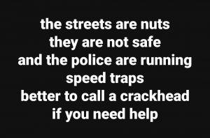 call a crackhead