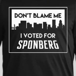 SPONBERG FOR MAYOR 'don't blame me' classic hoodie